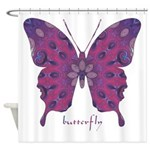 Princess Butterfly Shower Curtain