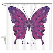 Princess Butterfly Shower Curtain