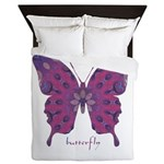 Princess Butterfly Queen Duvet