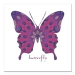 Princess Butterfly Square Car Magnet 3