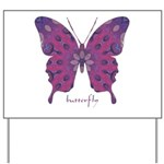 Princess Butterfly Yard Sign