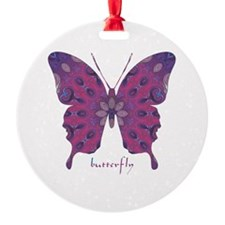 Princess Butterfly Round Ornament