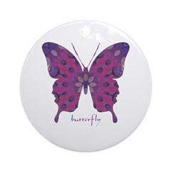 Princess Butterfly Ornament (Round)