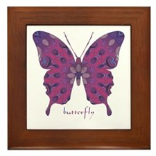 Princess Butterfly Framed Tile