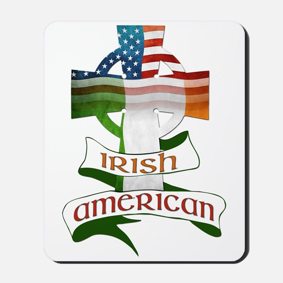Irish American Celtic Cross Mousepad