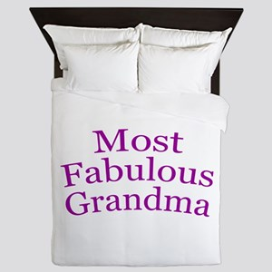 Most Fabulous Grandma Queen Duvet