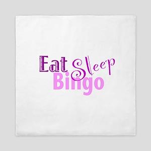 Eat Sleep Bingo Queen Duvet
