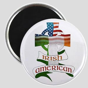 Irish American Celtic Cross Magnet