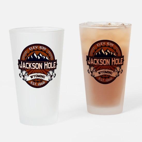 Jackson Hole Vibrant Drinking Glass