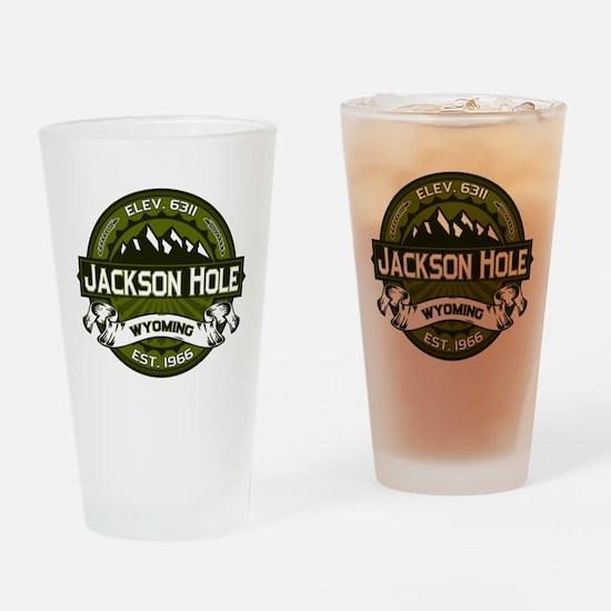 Jackson Hole Olive Drinking Glass