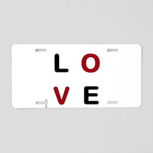 OYOOS Love design Aluminum License Plate