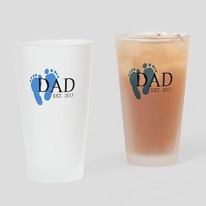 Dad, Est. 2013 Drinking Glass