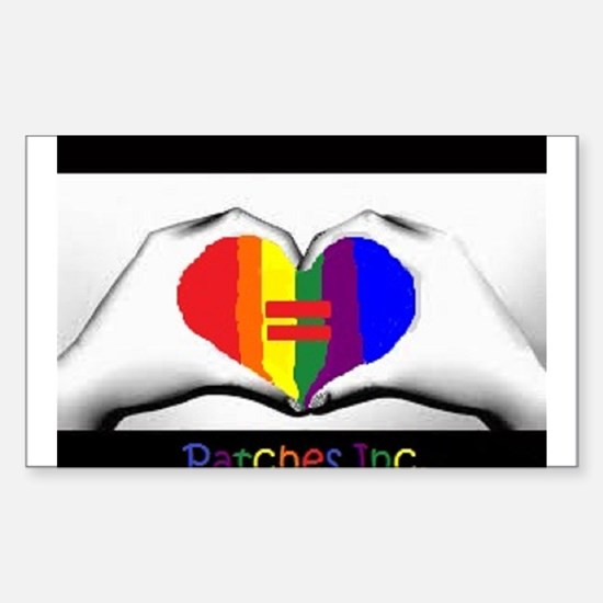 I Support Gay Marriages Sticker (Rectangle)