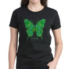 Christmas Butterfly Women's Dark T-Shirt