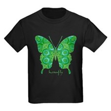Christmas Butterfly Kids Dark T-Shirt