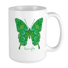 Christmas Butterfly Large Mug
