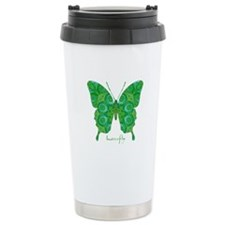 Christmas Butterfly Stainless Steel Travel Mug