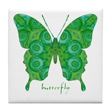 Christmas Butterfly Tile Coaster