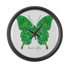Christmas Butterfly Large Wall Clock
