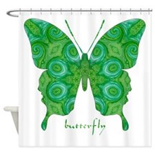 Christmas Butterfly Shower Curtain