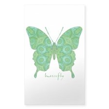 Christmas Butterfly Sticker (Rectangle)