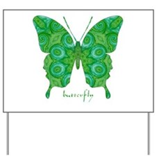 Christmas Butterfly Yard Sign
