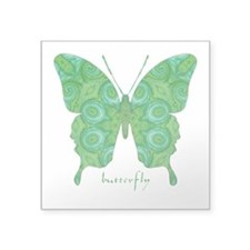 Christmas Butterfly Square Sticker 3
