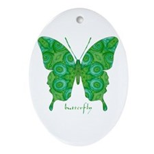 Christmas Butterfly Ornament (Oval)