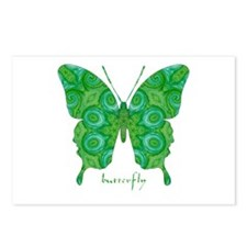 Christmas Butterfly Postcards (Package of 8)
