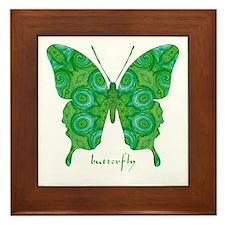 Christmas Butterfly Framed Tile