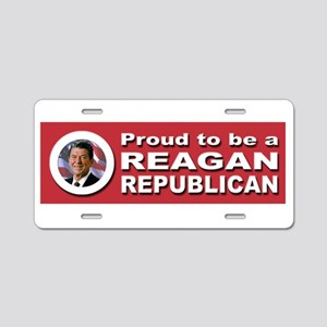 Proud Reagan Republican Aluminum License Plate