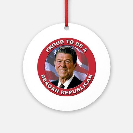 Proud Reagan Republican Ornament (Round)