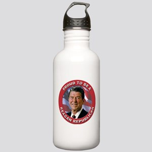 Proud Reagan Republican Stainless Water Bottle 1.0