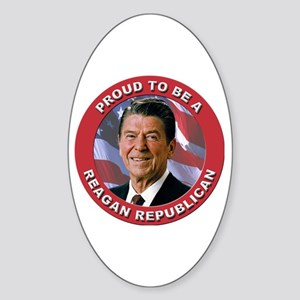 Proud Reagan Republican Sticker (Oval)