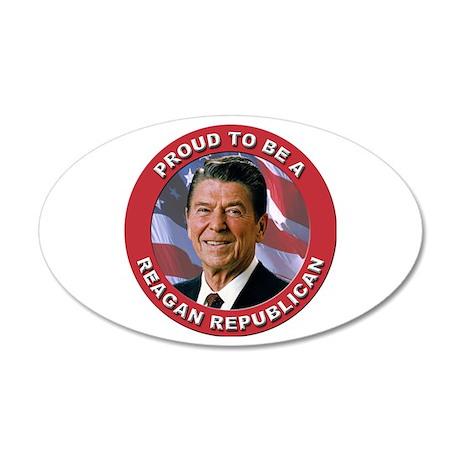 Proud Reagan Republican 20x12 Oval Wall Decal