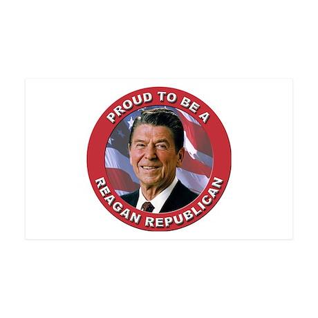 Proud Reagan Republican 35x21 Wall Decal