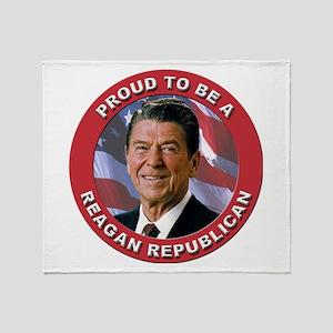 Proud Reagan Republican Throw Blanket