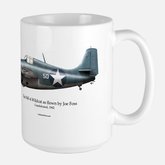 The F4F Wildcat of Joe Foss Large Mug