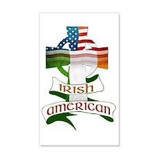 Irish American Celtic Cross Wall Decal