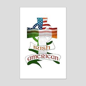 17c3b1f30569 Irish American Celtic Cross Mini Poster Print