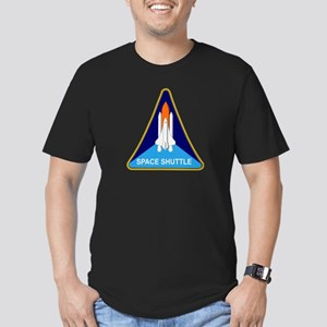 Space Shuttle Shield Men's Fitted T-Shirt (dark)
