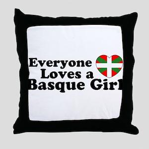 Basque Girl Throw Pillow