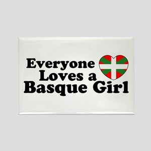 Basque Girl Rectangle Magnet
