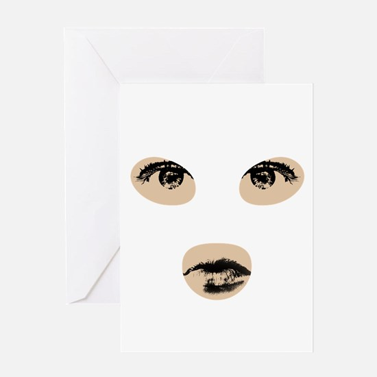Eyes and lips Greeting Card