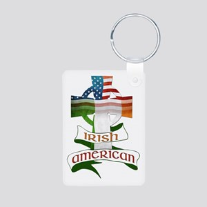 Irish American Celtic Cross Aluminum Photo Keychai