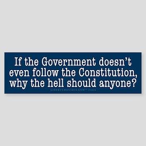 Following the Constitution Sticker (Bumper)