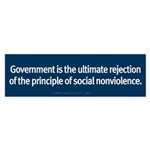 Government Rejection of Nonviolence Sticker (Bumpe