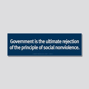 Government Rejection of Nonviolence Car Magnet 10