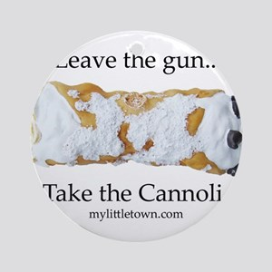 Cannoli Ornament (Round)