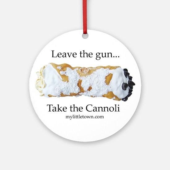Cannoli Ornament (Round)